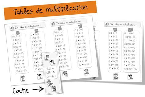 Les De Table by Tables De Multiplication Bout De Gomme