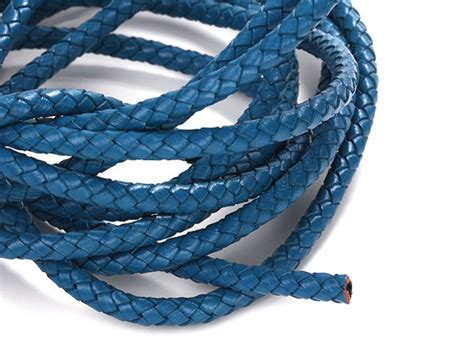 6mm Braided Cord - sky blue 6mm braided leather cord leather cord