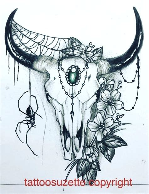 bull skull tattoo meaning steer skull tattoos posts about cow skull on copper