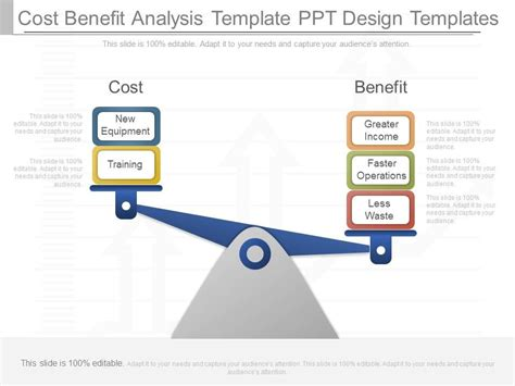 new cost benefit analysis template ppt design templates