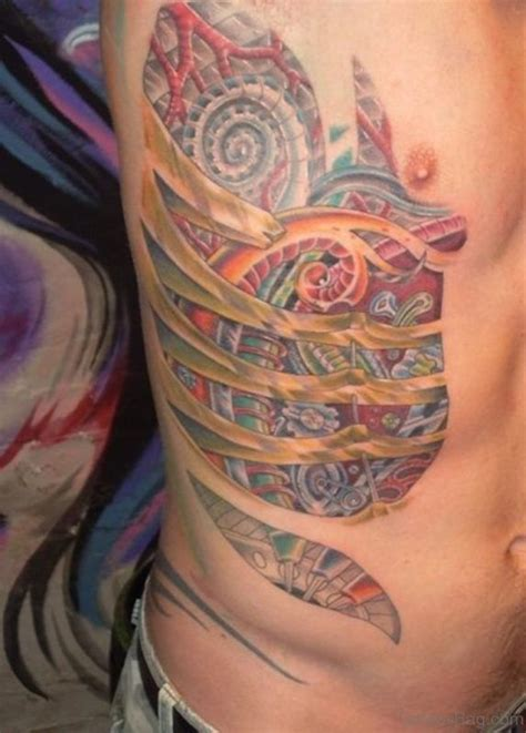 biomechanical zombie tattoo 34 best 3d tattoos zombie rib cage heart images on