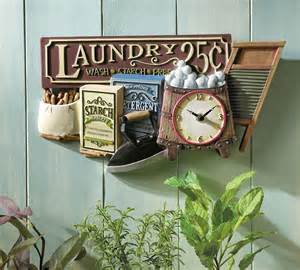 nostalgic laundry clock fashioned decor
