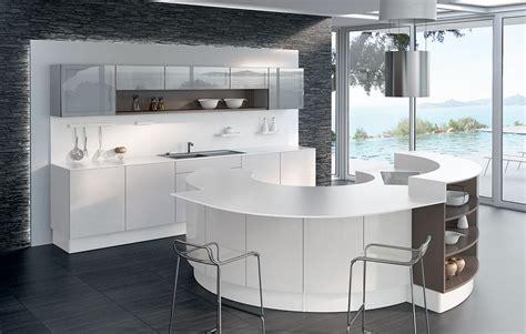 cuisine ilot central arrondi cuisine en image cuisine design blanche avec 238 lot