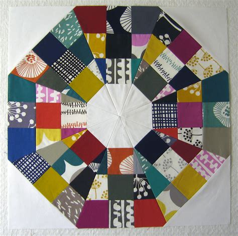 Free Modern Quilt Block Patterns by 100 Days Week Of Blocks Octagonal Orb Block Tutorial The Modern Quilt Guild