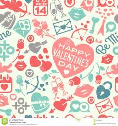 valentines day pattern valentines day seamless pattern stock vector