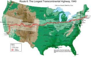 road map usa travel