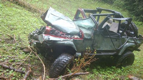 Jeep Crash Dies Airlifted After Jeep Goes Cliff