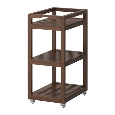 ikea storage cart molger cart dark brown ikea