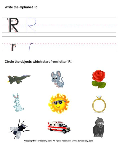 Letters That Start With R
