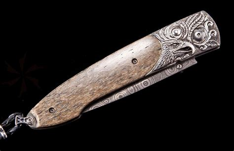 William Henry Kitchen Knives William Henry Lancet Flight Compact Folder 2 75 Quot Raindrop Damascus Blade Sterling Silver