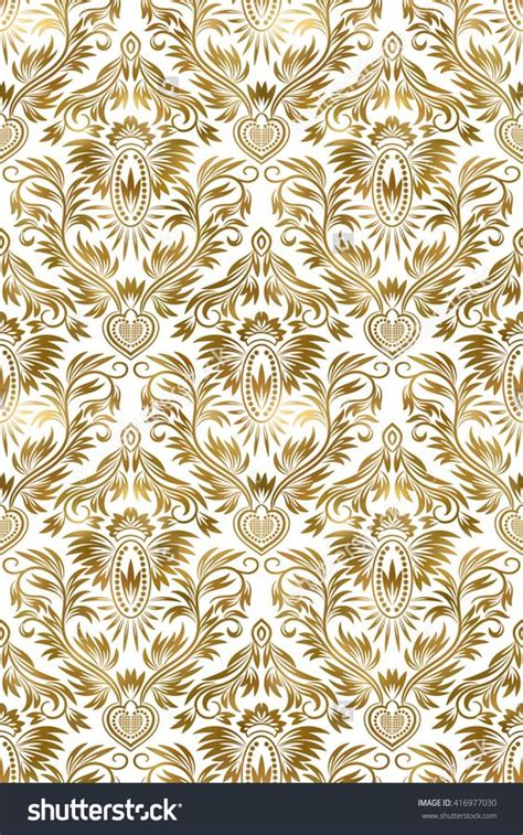 seamless pattern royal golden white vintage seamless pattern gold royal classic