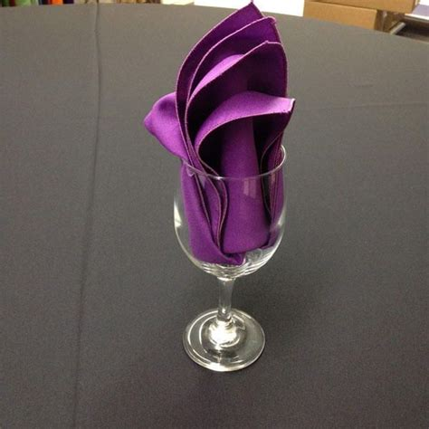 Folding Paper Napkins In Glasses - 25 best ideas about folding napkins on