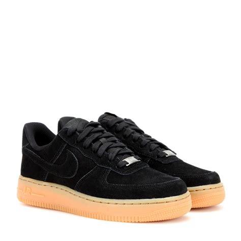 nike air 1 suede sneakers in black lyst