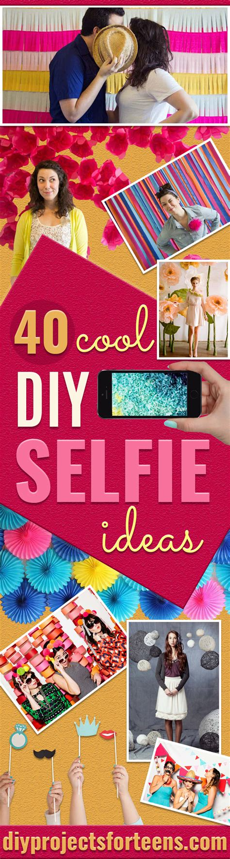 40 cool diy selfie ideas