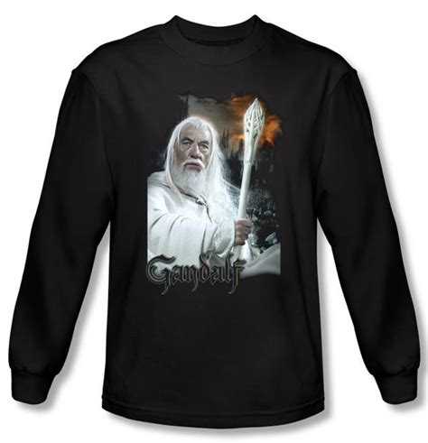 Hoodie Lord Noval Clothing the lord of the rings sleeve t shirt gandalf black