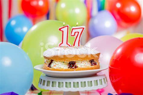 Number 17 Candles Cake Stock Photos FreeImages.com