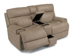 Power Recliner Sofa Leather Flexsteel Living Room Leather Power Reclining Loveseat With Console 1441 604p Barron S Home