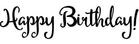 happy birthday font design png clip art word art cutecrafting