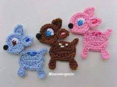 apliques infantiles a crochet figuritas y animalitos a crochet manualidades