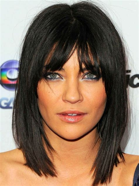 inverted triangle hairstyles jessica szohr inverted triangle face bangs hair