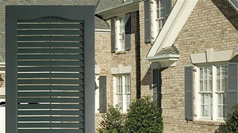 louvered exterior vinyl shutters by window world