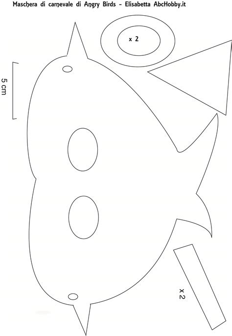 angry bird mask template
