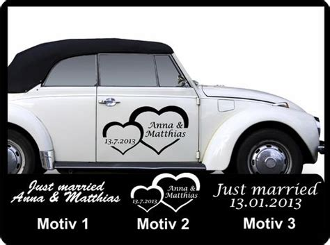 Just Married Aufkleber F Rs Auto by Aufkleber Fensteraufkleber Autoaufkleber Wandaufkleber