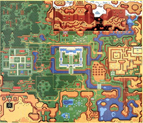 legend of zelda gba map a link to the past overworld map
