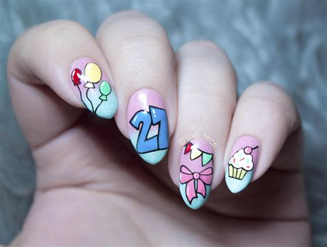 50 best birthday nail designs birthday nails then and now by tina tech