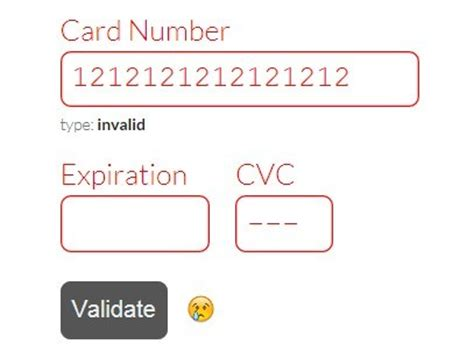 Credit Card Form Validation Script jquery form validation plugins jquery script