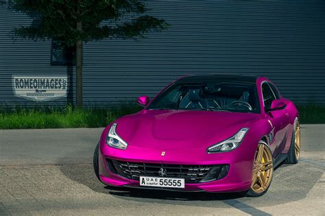 car ferrari pink pink ferrari gtc4lusso goes against ferrari brand rule