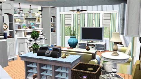 Home Interior Wall Pictures Sea Shore Beach Cottage Tiki S Sims 3 Corner