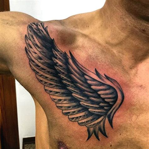 30 best wing chest tattoos for men images on pinterest