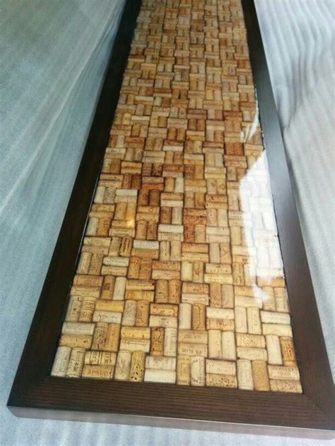 wine cork table top resin cork bar top coated with epoxy resin by fogliart