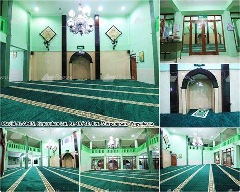 Karpet Masjid Yogyakarta musholla al amin sdn lempuyangan jl tukangan 6