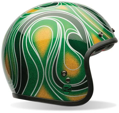 Helm Retro Coklat Umzd bell custom 500 chemical green helmet size xs only 38 60 00 revzilla