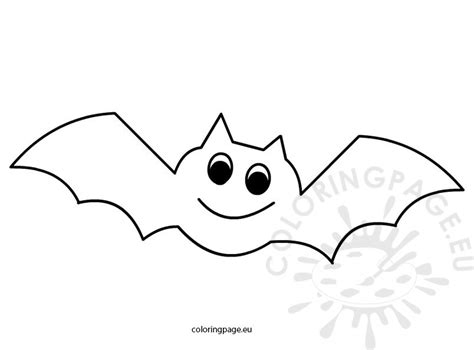 halloween coloring page bat