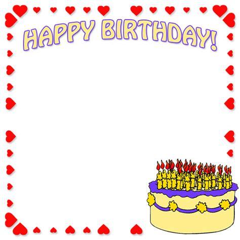 Free Birthday Borders Happy Birthday Border Clip Art Free Birthday Border