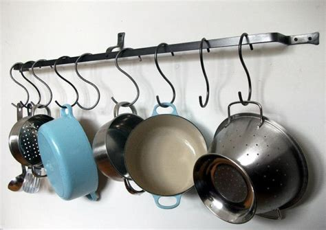 Pots N Pans Rack Wall Pot Rack Bespoke Lengths Pan Hanging Kitchen