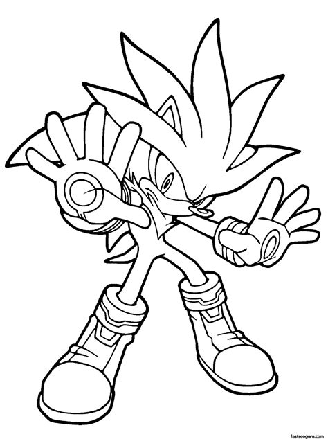 Free Coloring Pages Of Silver Sonic Hedgehog Silver The Hedgehog Coloring Pages
