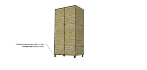 installing casters on cabinet free diy furniture plans how to build a simple wardrobe