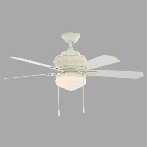 vintage white ceiling fan hton bay portsmouth 52 in outdoor vintage white