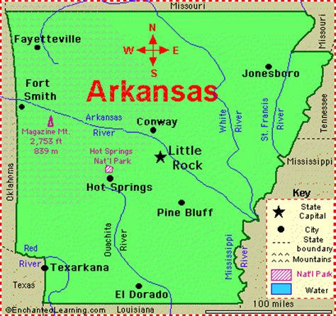 map usa arkansas mrs cady arkansas