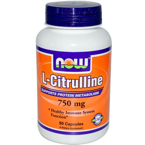 L Citrulline Detox by Now Foods L Citrulline 750 Mg 90 Capsules Iherb