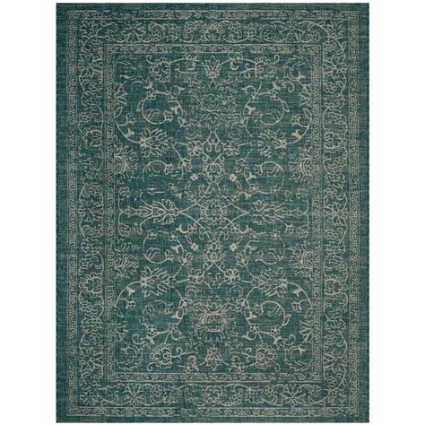 area rugs 8 ft safavieh courtyard turquoise 8 ft x 11 ft indoor outdoor area rug cy8680 37221 8 the home depot