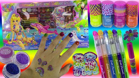 Menicure Set Hello Isi 8pc frank ultimate nail set 8 nail polishes pens glitter more unboxing