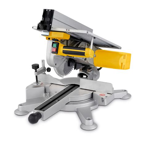 combination saw bench powerplus 254mm 1800 watt combination compound mitre saw