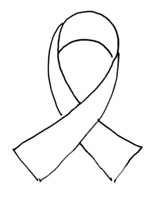 coloring page of breast cancer ribbon breast cancer ribbon coloring sheet clipart best