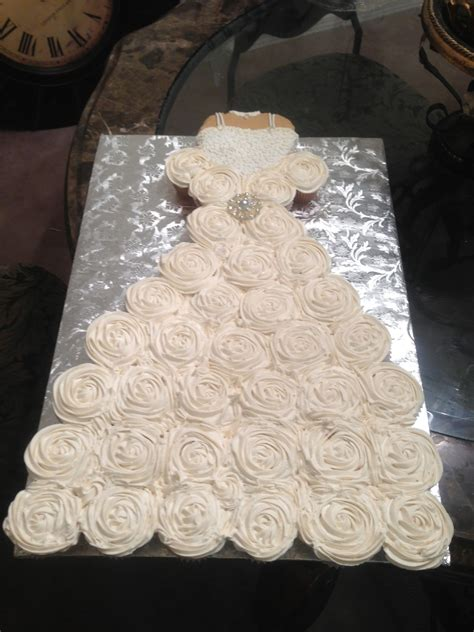 bridal shower cake cupcakes cupcake wedding dress for a bridal shower bodice is a