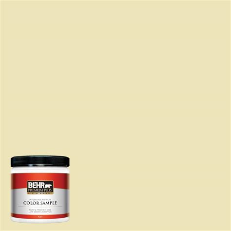 behr premium plus 8 oz ppu9 13 yellow wax pepper flat